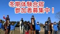 【3泊4日 冬期合宿】馬の学校・仕事が体験できる!3泊4日体験合宿!