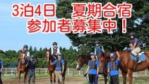 【3泊4日 夏期合宿】馬の学校・仕事が体験できる!体験合宿参加申し込み受付中!