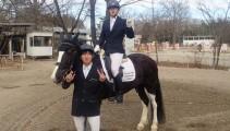 高校課程2年生2人で馬術競技会に出場してきました!地方競馬 騎手候補生の菅原くんの姿も!