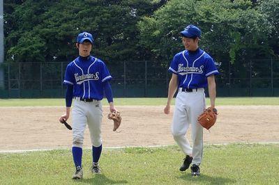 野球 石井厩務員と北田厩務員