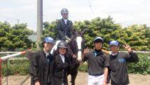 富里トレーニングファームで開催された千葉県馬術大会に8名7頭で参戦!